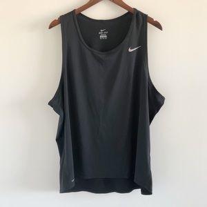 Men's Nike Contour Singlet Running Tank Black XXL